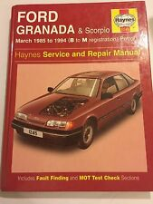 FORD GRANADA & SCORPIO PETROL Inc V6 HAYNES SERVICE REPAIR MANUAL 1985-1994 B-M