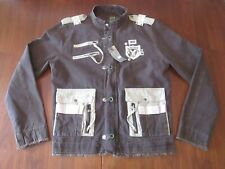 G-STAR RAW Originals Canvas Bomber Jacket - Brown Size 2XL NOS