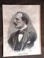 Compositore Umberto Menotti Maria Giordano di Foggia nel 1896
