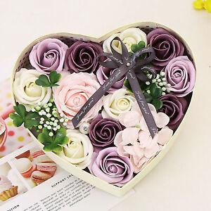 HEART-SHAPED SOAP FLOWER ROSE GIFT BOX VALENTINE DAY BIRTHDAY GIRLFRIEND GIFT