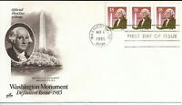 US Scott #2149, First Day Cover 11/6/85 Washington Plate #3333 Coil