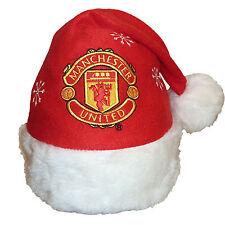 Manchester United Football Club Official Xmas Gift Christmas Santa Beanie Hat