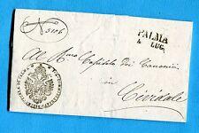 1853 PALMA stamp.+data + bollo di franchigia per Cividale  (252667)