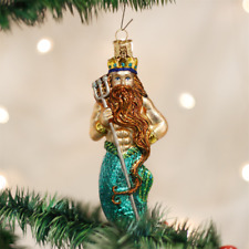 OLD WORLD CHRISTMAS NEPTUNE TRIDENT MYTHICAL GOD GLASS CHRISTMAS ORNAMENT 24140