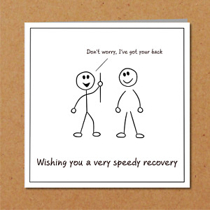 Back Surgery / Operation Card - Get Well Soon Card, Fast Recovery, Recover Quick
