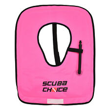 Scuba Choice Scuba Choice Adult Neon Pink Snorkel Vest with Name box, Large