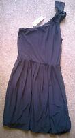 BNWT Ladies South One Shoulder Bubble Hem Black Dress Size 10