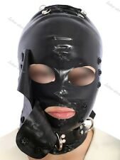 181 Latex Rubber Gummi blindfold Masks Hoods lace up customized catsuit 0.7mm