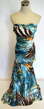 NWT BLONDIE NITES $147 Brown Turquoise Prom Ball Gown 5