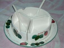 Sweet Vintage Ceramic 4 pc. Condiment or Jelly Set Made by Lefton's of Japan
