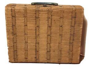 Vintage Prison Tramp Matchstick Match Stick Folk Art Child Suitcase Doll Case