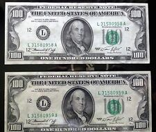 2 in sync  1974 - Boston C Note - $100 One Hundred Dollar Bill - Old Paper Money