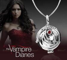 925 Sterling Silver New Vampire Diaries Elena Locket Vervain Pendant Necklace