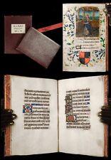 1470 Illuminated Manuscript BOOK OF HOURS fragment VIRGIN Vellum MEDIEVAL Bible