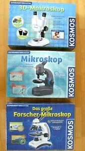 Kosmos Experimentierkasten  Das große Forscher Mikroskop,3D-Makroskop,Mikroskop