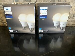 Philips Hue ~Warm White~ A19 4-Pack 60W Dimmable LED Smart Bulbs Alexa Google