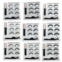 Magnetic liquid Eyeliner False Eyelashes Tweezer Set Eye Lashes Waterproof