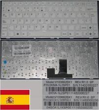 Tastiera Qwerty Spagnola ASUS EeePc EPC 1005PEB V103662EK1 0KNA-1L2SP1 Bianco