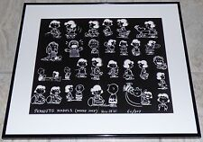PEANUTS LUCY CHARLIE BROWN SNOOPY 1960 FRAMED ORIGINAL PRODUCTION MODEL SHEET