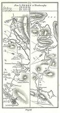 Antique map, Roads from Londonderry to Dunfanaghy, Carrick to Killesandra
