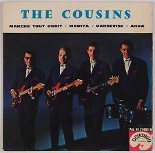 THE COUSINS: Marche Tout Droit PALETTE PAL 21003 French Rock EP 45 PS