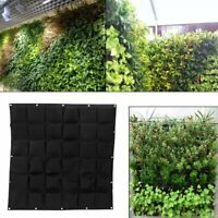 36 Pocket Hanging Planting Bag Wall Grow Pouch Vertical Flower Planter Box Up