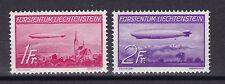 Liechtenstein 1936 postfrisch MiNr. 149-150  Luftschiff LZ 129 und LZ 127