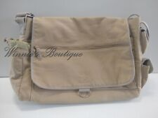 Catini Beige Large Cross Body/Messenger Or Diaper Bag With Tons Of Pockets Khaki