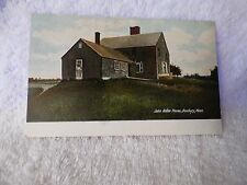 pre 1907 POSTCARD John Alden House Duxbury MAss A S Burbank Plymouth