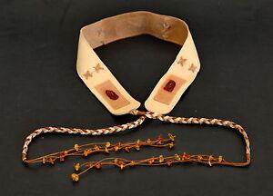 Handmade Tan Leather & Baltic Amber Belt for Medieval Costume Dress UNWORN 2015