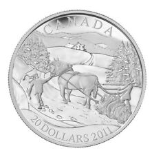 2011 Canada $20 Pure Silver Coin -Winter Scene