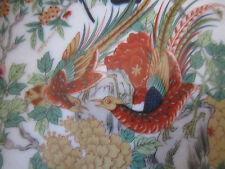 "SAJI SAJ9 7 1/2""  PLATE MULTI-COLOR BIRDS ANIMALS RUST & TAN BORDER"