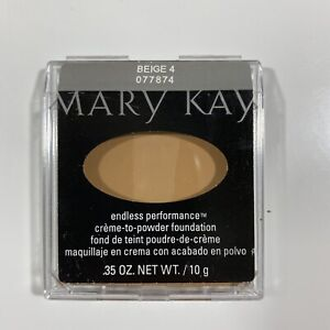Mary Kay Endless Performance Crème-to-Powder Foundation BEIGE 4 - Full Size