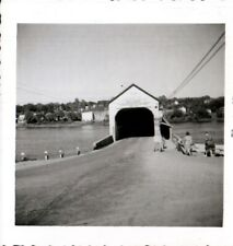 Vintage Photo, covered bridge, , circa 1950's.  pb5