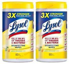 2x Lysol 80ct Canister Disinfecting Wipes Lemon Lime Blossom Kills 99.9% Viruses
