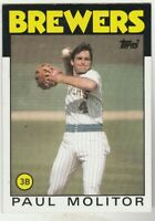 FREE SHIPPING-MINT-1986 Topps #267 Paul Molitor Brewers PLUS BONUS CARDS