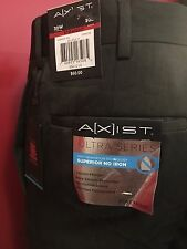 A[x]IST Men's Charcoal Straight Fit Ultra Series Dress Pant - Size 30W x 30L NWT