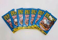 1991 Topps Desert Storm Trading Cards Wax Pack Sealed Lot of 7 packs