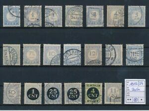 D194079(1) Netherlands 1912-1924 Postage Dues Nice selection of VFU Used stamps