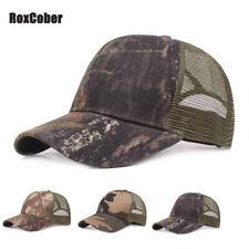 RoxCober Sunmmer Baseball Cap Camo Breathable Sport Golf Trucker Caps Adjustable