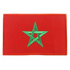 MOROCCO Nation Flag Logo Embroidered Iron On Patch #PFGMA2