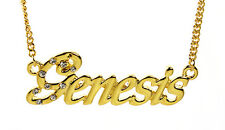 18K Gold Plated Necklace With Name GENESIS - Pendant Love Jewellery Christmas