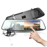 TOGUARD Telecamera per Auto Touch Screen DashCam HD 1080P Dual Lens DVR Recorder