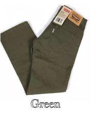 Levi's 513 Slim Fit Straight Leg twill Pants Boys Kids size 10,14,18 REG NWT