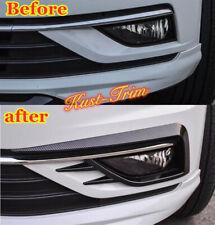 Front fog lamp eyebrow Wind knife For 2018-2019 VW Golf MK7.5 Carbon fiber style