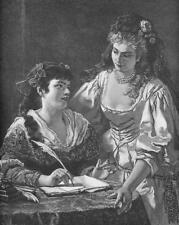LOVELY MAIDENS Figaro's Wedding Fancy Dresses - VICTORIAN Era Engraving Print