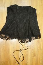 NEW Daisy Corsets Women's Lavish Lace LV-337 Corset Dress, Black, 6XL NWT