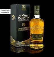 TOMATIN 12 Jahre Bourbon & Sherry Cask Single Malt Scotch Whisky