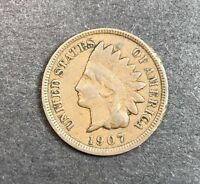 1907 Indian Head Cent. COLLECTOR COIN FOR YOUR SET OR COLLECTION.