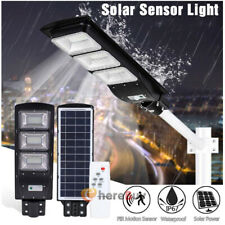90000LM Solar LED Street Light Commercial Outdoor IP67 Area Security Road +Pole